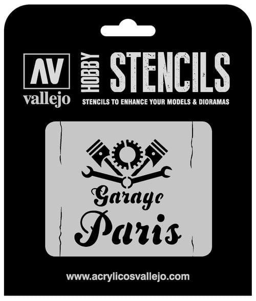 Vallejo Hobby Stencils: Vintage Garage Sign Markings - 1:35