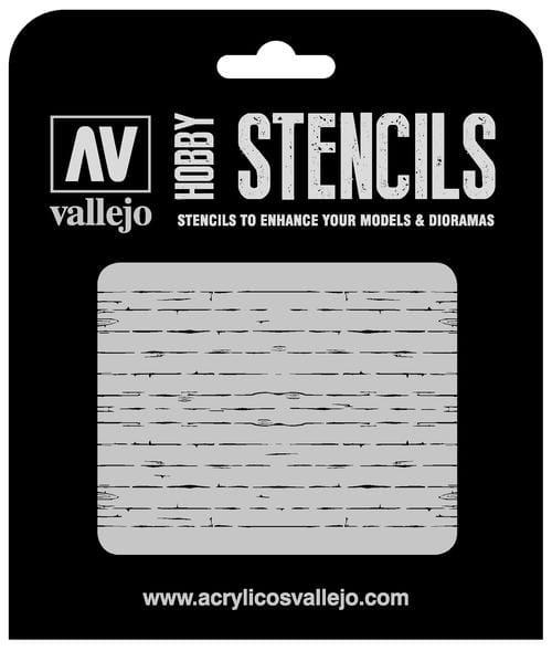 Vallejo Hobby Stencils: Wood Texture Num. 1 - 1:35