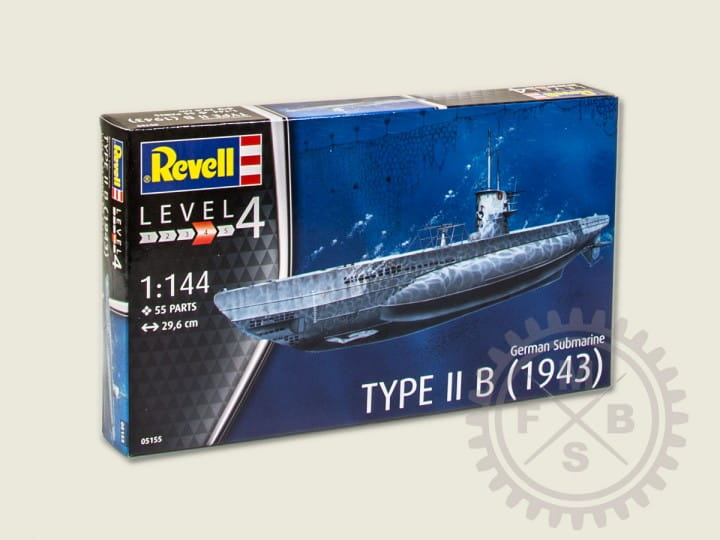 Revell German Submarine Type II B / 1:144
