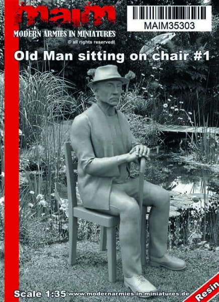 Old Man sitting on chair #1 / 1:35