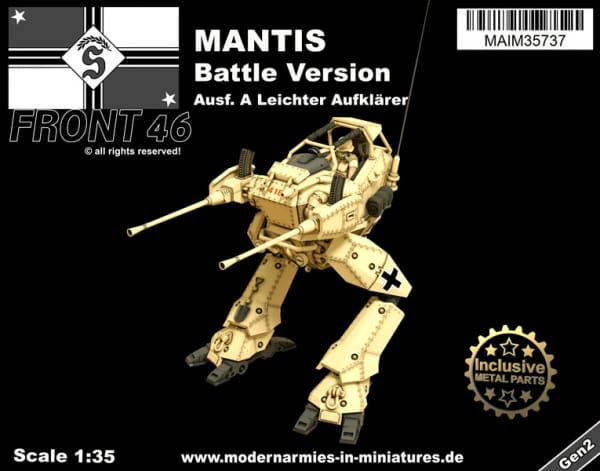 Mantis Ausf. A - leichter Aufklärer (Battle Version) -Front46- / 1:35