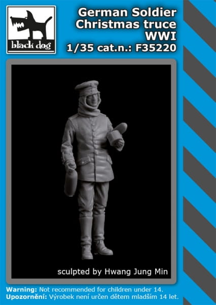 German soldier Christmas truce WW I / 1:35