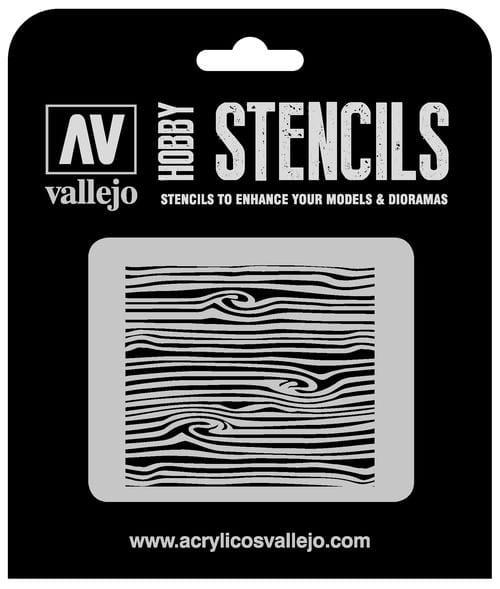 Vallejo Hobby Stencils: Wood Texture Num. 2 - 1:35