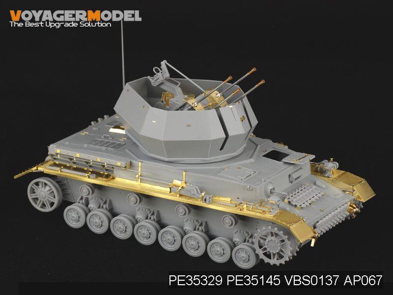 eduard Zimmerit Flakpanzer IV Wirbelwind Ätzteile 1:35 Tamiya Modell-Bausatz kit