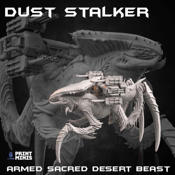 Armed Dust Stalker; Desert Alien Beast -Dieselpunk Desert Collection-