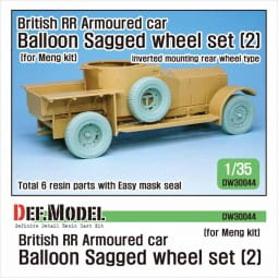 British RR Armoured car balloon Sagged Wheel set- 2 for Meng / 1:35
