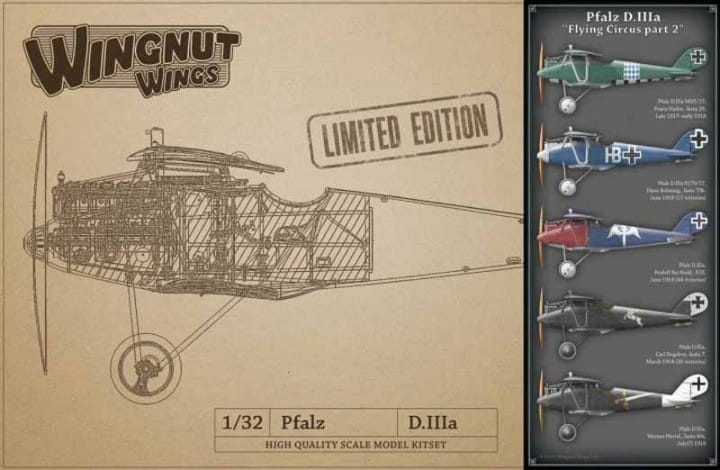 Pfalz D.IIIa - Flying Circus part 2 - LIMITED EDITION / 1:32