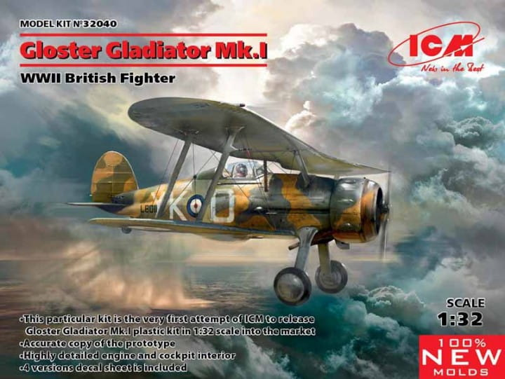 Gloster Gladiator Mk.I, WWII British Fighter / 1:32
