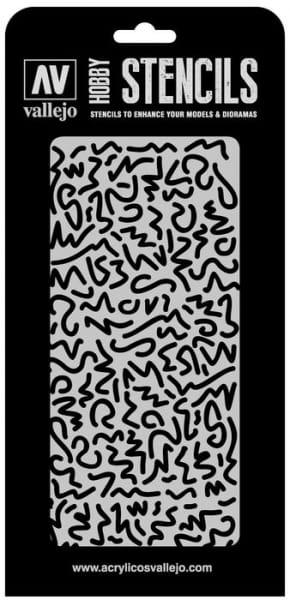 Vallejo Hobby Stencils: Luftwaffe WWII Shingles Camo - 1:32