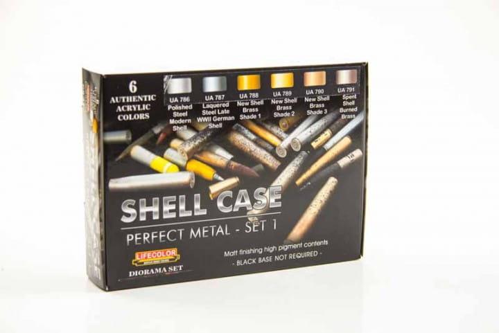 shell case perfect metal - set 1 - Color Set / 6x22ml