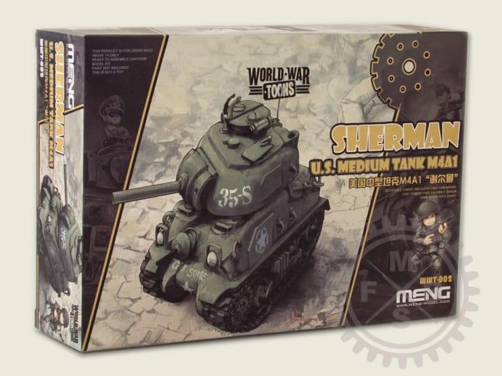 Meng Models World War Toons: U.S.Medium Tank M4A1 Sherman