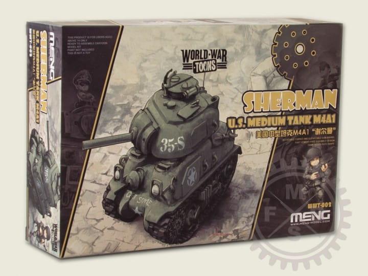 Meng Models World War Toons: U.S.Medium Tank M4A1 Sherman