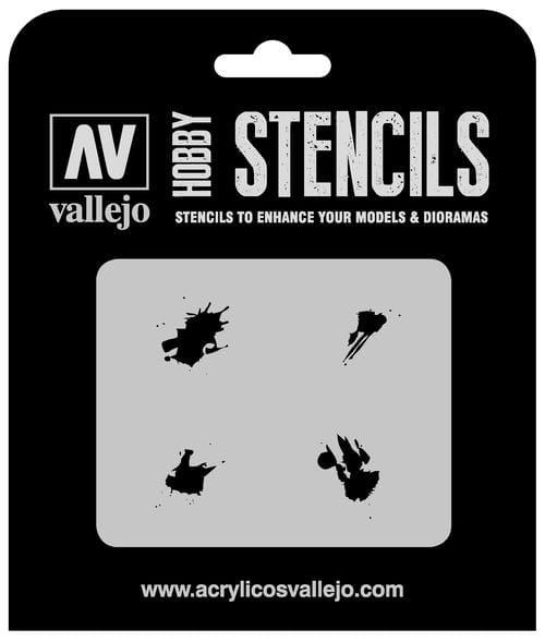 Vallejo Hobby Stencils: Petrol Spills - 1:35