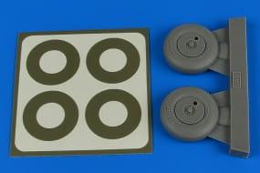 Spitfire Mk.IX wheels (covered) & paint masks - Tamiya - / 1:32