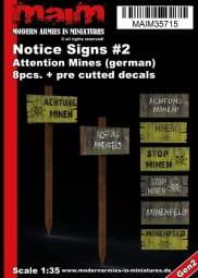 Achtung Minen - Warnschilder / 1:35