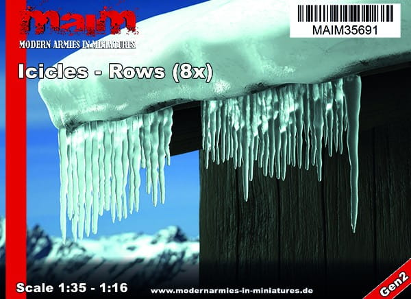 Iccicles - Rows (8xpcs) / Uniscale 1:35 - 1:16
