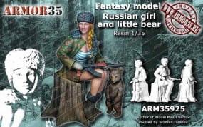 Russian Girl and little Bear / 1:35