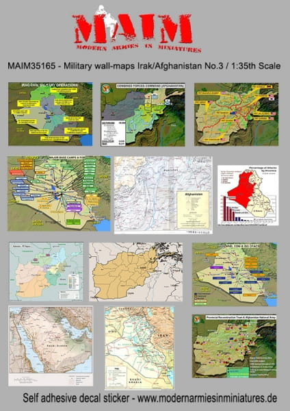 Military Wall Maps Irak/Afghanistan No. 3 - self-adhesive Decal Sticker / 1:35