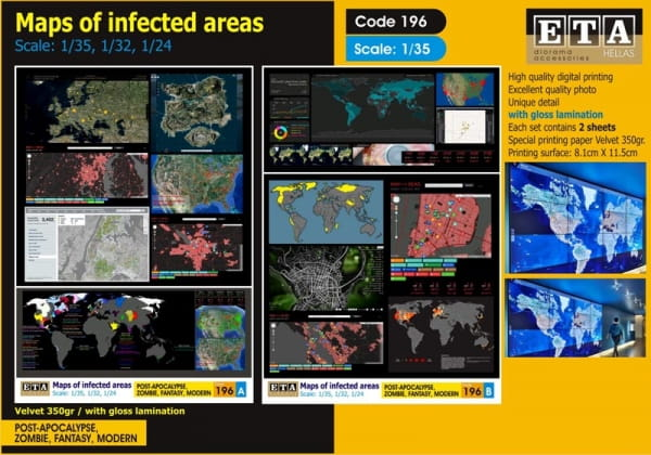 ZOMBIE - Maps of infected areas / 1:35