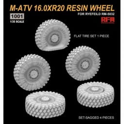 M-ATV 16.0 x R20 Resin Wheel Set / 1:35