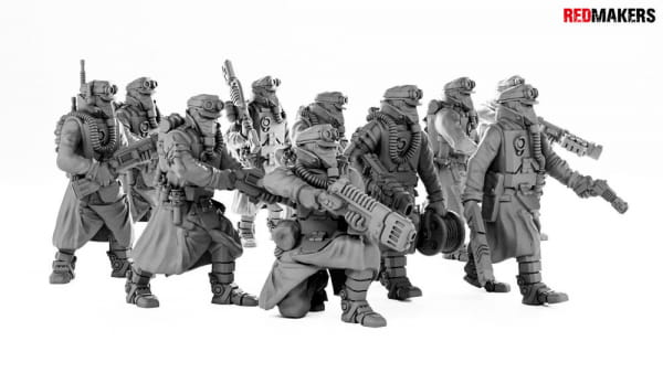 Death Squad Engineers of the Imperial Force; Mega Set #1 (10 Figures)