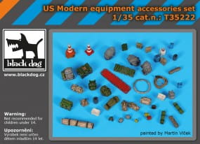 US modern equipment accessoris set / 1:35