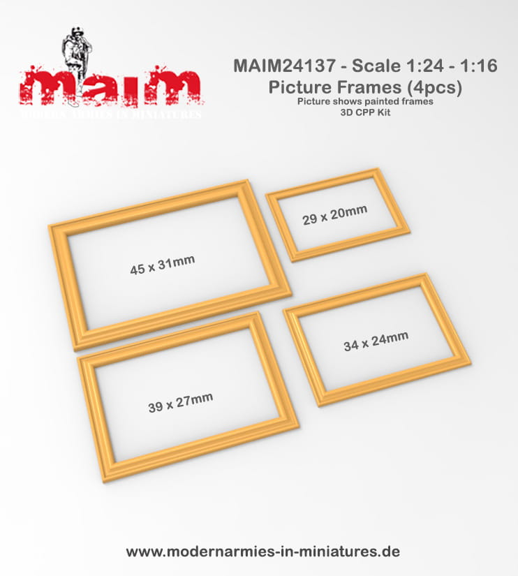 Bilderrahmen - Picture Frames (4pcs) / 1:24 - MAiM / Front46 - 24137