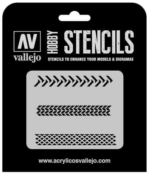 Vallejo Hobby Stencils: Tyre Markings - 1:35