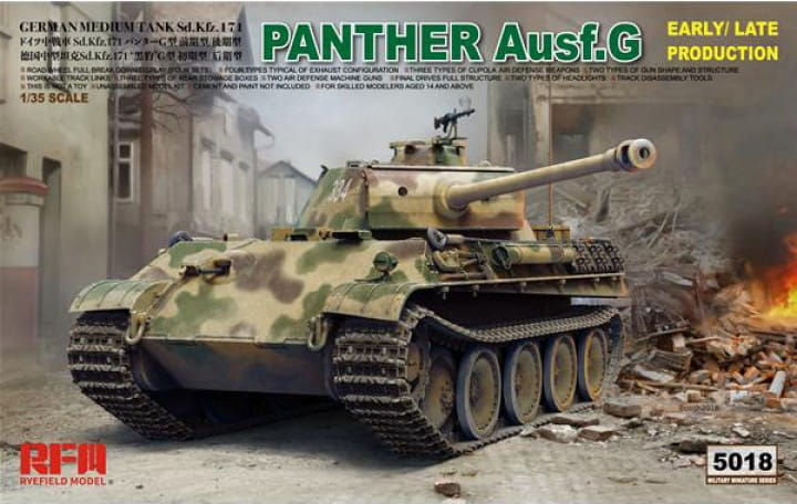 Rye Field Model Panther Ausf. G; early/late Production / 1:35