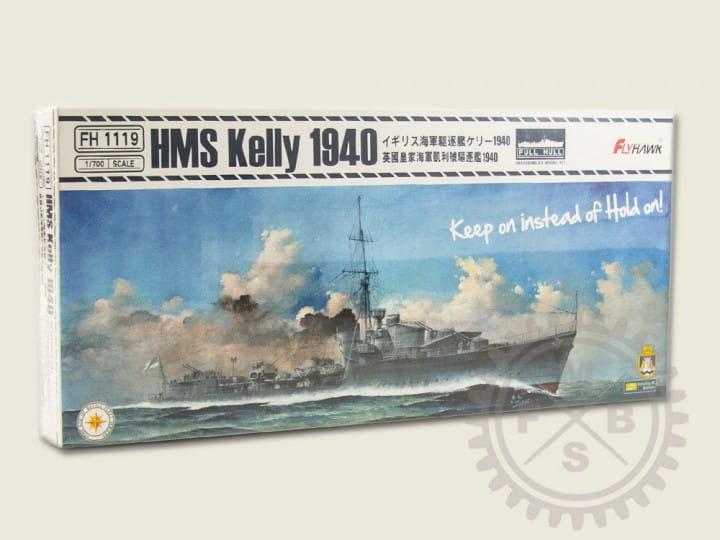Flyhawk HMS Kelly 1940 -Full Hull- / 1:700