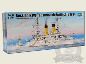 Trumpeter Tsesarevich Russian Navy Battleship 1904 / 1:350