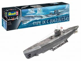 German Submarine Type IXC U67/U154 / 1:72