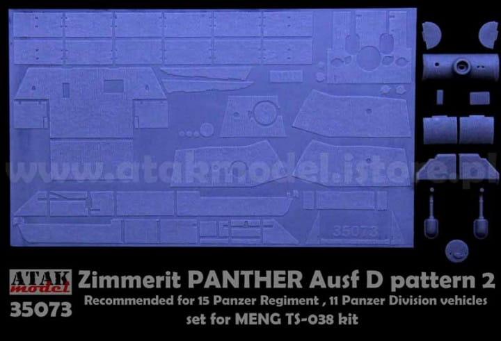 ZIMMERIT PANTHER D pattern 2 - Meng - / 1:35