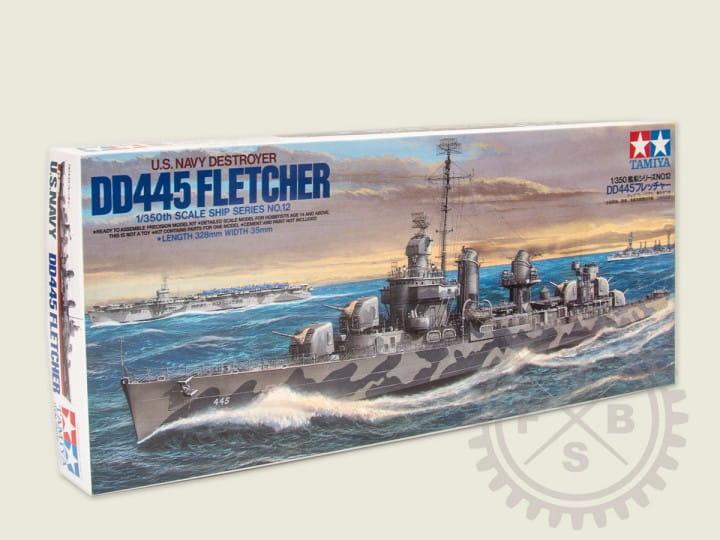 WWII US Zerstörer DD445 Fletcher / 1:350
