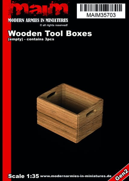 MAiM / Front46 Wooden Tool / Fruits Boxes (3pcs) / 1:35
