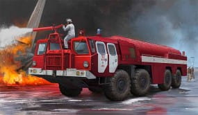 Airport Fire Fighting Vehicle AA-60 (MAZ-7310) / 1:35