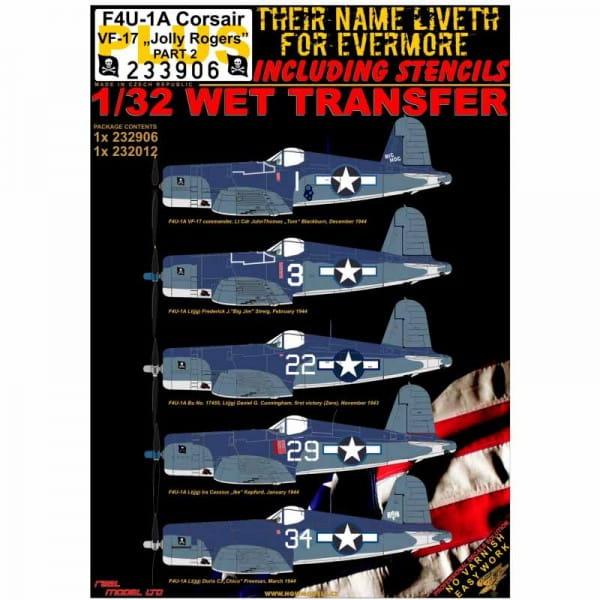 WET TRANSFER: F4U-1A VF-17