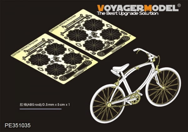 WWII British Milltary Bicycles upgrade set (2 sets) (For TAMIYA 35333) / 1:35