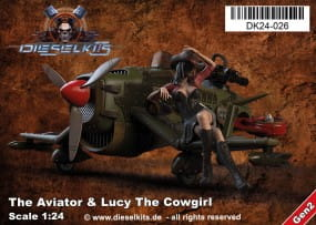 The Aviator + Lucy the Cowgirl - Steam Punk Vehicle / 1:24