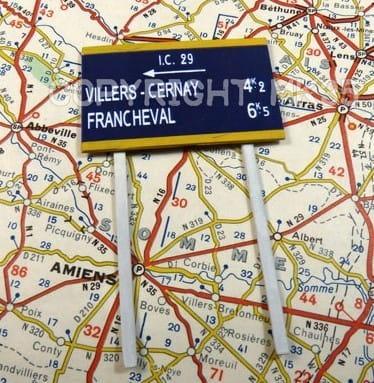 Straßenschilder / Roadsigns France 1940 / 1:35