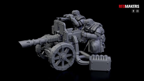 Lasercanon - Ice Warriors - Heavy Support Squad of the Imperial Forces