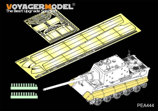 "WWII German Sd.Kfz.186 Panzerjäger ""Jagdtiger"" Schurzen Normal Version (For TAKOM) / 1:35"