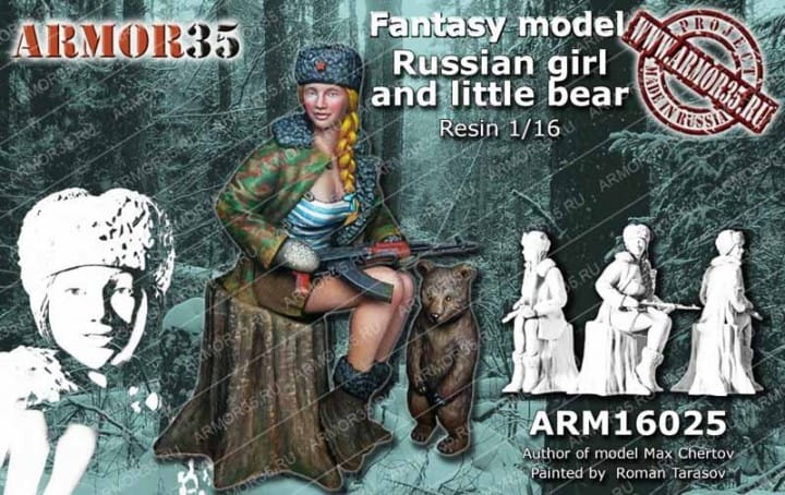 Armor35 Russian Girl and little Bear / 1:16
