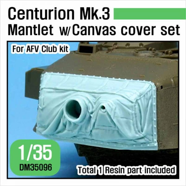 Def.Model Centurion Mk.3 Mantlet w/ Canvas cover set (for AFV Club kit) / 1:35