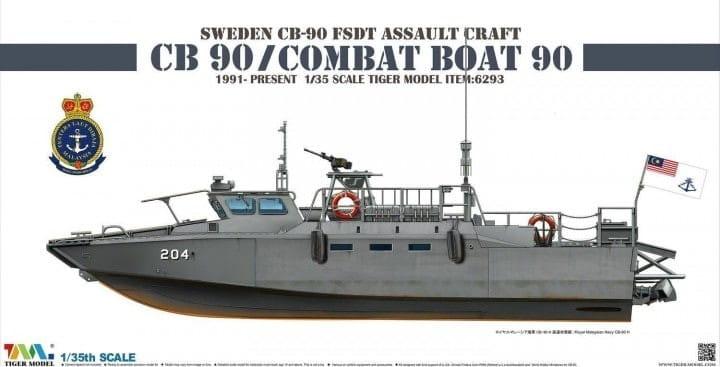 Tiger-Model Sweden CB-90 FDST Assault Craft CB 90 - Combat Boat 90 / 1:35