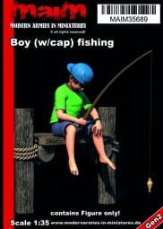 Boy (w/cappy) fishing / 1:35