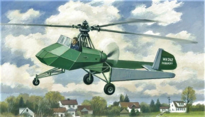 Doblhoff WNF 342 German WWII helicopter / 1:72
