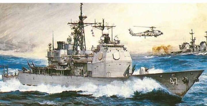 U.S.S. Ticonderoga CG-47 / 1:350