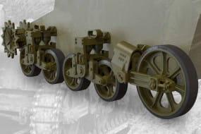 US light tank M5/M5A1/M8 HMC suspension set / 1:35