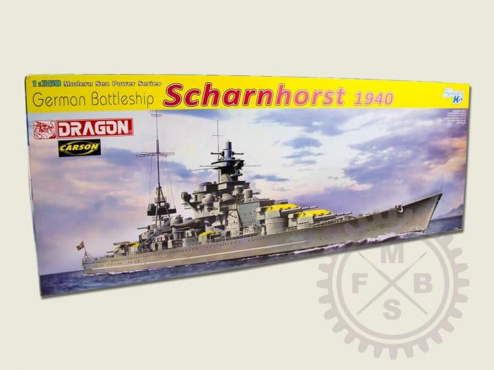 Dragon Models German Battleship Scharnhorst 1940 / 1:350